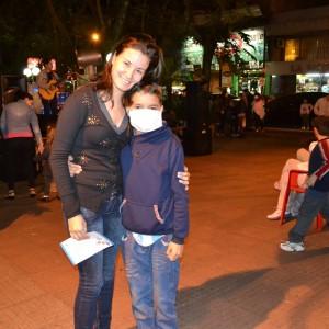 Pablito junto a su hermana Tatiana