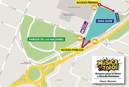 Mapa acceso al Música x Todos Montaner
