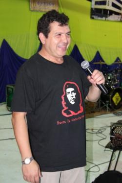 César Cardozo, colaborando y animando la Fiesta Provincial de la Ecología con las tradicionales Batucadas!
