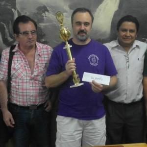 El ganador del torneo, Joaquín Jiménez