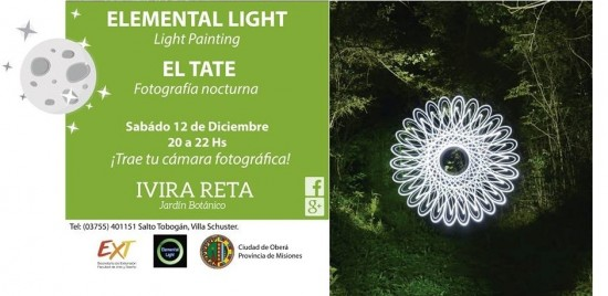 elemental light en el jardin botanico