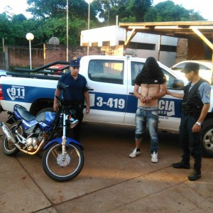 Detenido Hurto motocicleta Oberá11-02