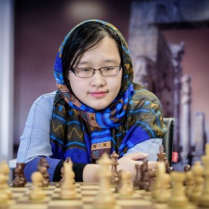 La china Zhao Xue, que mantenía el liderato en solitario hasta la ronda 9 Foto: Alina l'ami, sitio oficial