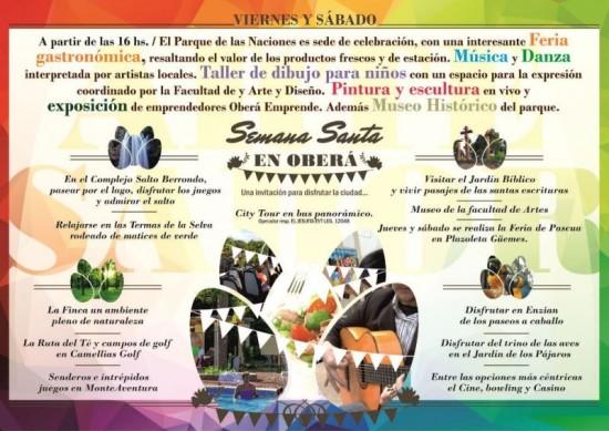 Afiche - Actividades Semana Santa en Oberá