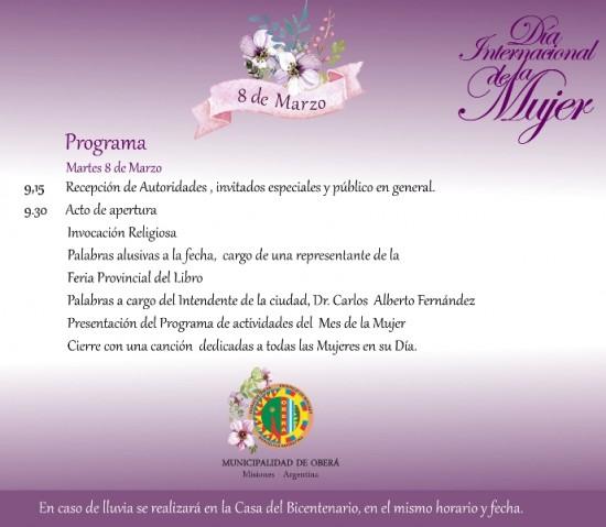 Invitación Dia la mujer