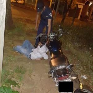 menor y moto secuestrada