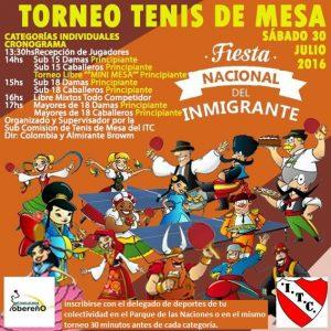 Juegos del inmigrante Tenis de Mesa