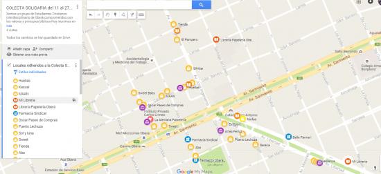 Mapa Locales