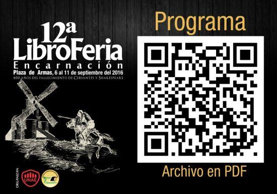 Libroferia 2016 - codigo QR del programa