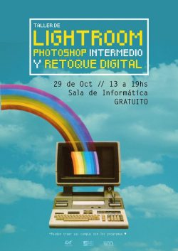 Afiche Taller de Lightroom Photoshop y eso
