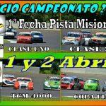Mañana se pone en marcha la primera del Automovilismo en Pista