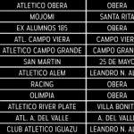 Ya está el Fixture para el inicio de la Liga Obereña