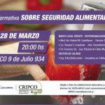 Reunión informativa sobre Seguridad Alimentaria en la CRIPCO