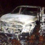La Policía encontró una camioneta abandonada e incendiada en Oberá, se investiga el hecho