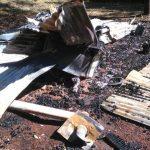 Daño por incendio en Los Helechos
