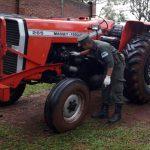 Gendarmería secuestró tractor de origen brasileño