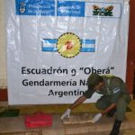 Escuadrón 9 de Gendarmería secuetró marihuana en Alba Posse
