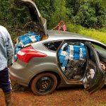 Escuadrón 9 de Gendarmería secuestró vehículo con 1400 cartones de cigarrillos extranjeros