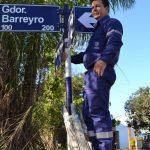 Extensión mano única en calle Gobernador Barreyro