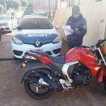 La Policía recuperó una motocicleta robada y busca al autor