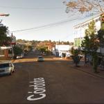 Estacionamiento a 45° en calle Córdoba