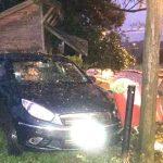 Automovilista despistó cerca del cementerio Sueco