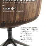 """Invitación Conferencia """"Tendencias en el Mueble, Salón de Milán 2017"""""""