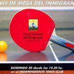 Grandes Juegos Deportivos del Inmigrante: tenis de mesa
