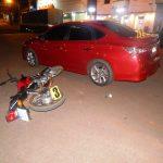 Colisión entre un automóvil  y una motocicleta dejó como saldo dos personas lesionadas