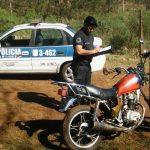 En un rápido accionar la Policía recuperó una motocicleta robada y busca al autor en Oberá