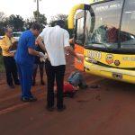 Peatón sufrió lesiones al ser embestido por un colectivo