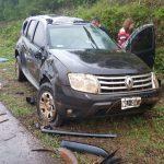 Vuelco de un vehículo en la ruta 103 dejó como saldo daños materiales