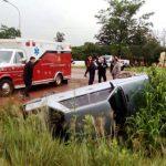 Colisión en la ruta 14 dejó  como saldo dos personas hospitalizadas