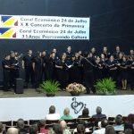 El coro municipal se presentó en Brasil