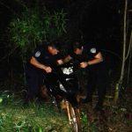 La policía recuperó una motocicleta robada y busca a los autores del hecho
