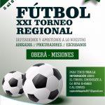 Más de 400 abogados jugarán en Oberá el XXI Torneo Regional de fútbol