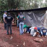 """Allanaron la """"guarida"""" de banda delictiva y detuvieron a siete jóvenes"""