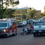 Motociclistas terminaron  con lesiones en una colisión