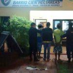 Tres hombres acusados de  dañar  una vivienda y amenazar a sus ocupantes fueron detenidos por la Policía