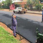 Reasfaltado calle Günther y extensión en red de agua potable