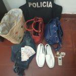 La Policía recuperó elementos robados y busca intensamente a los autores del ilícito