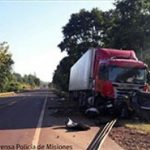 Choque frontal sobre ruta nacional 14 dejó como saldo una persona fallecida