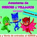 El show infantil Aventuras de Héroes y Villanos se presentará en la colectividad Ucraniana