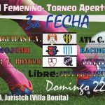 Femenino- La 3a se juega en Villa Bonita