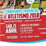 Éste sábado será el primer campeonato provincial de atletismo