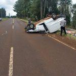 Despistó un automóvil en la ruta 5: no se registraron lesionados