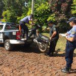 Detienen a un joven con frondoso prontuario y recuperan una motocicleta robada