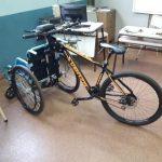 Se presentó una bicisilla creada por alumnos de la EPET N° 3 Polonia