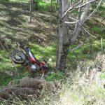 Despiste en la ruta 5 dejó como saldo un motociclista hospitalizado