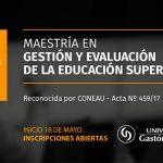 UGD abre la inscripción a la Maestría en Gestión y Evaluación de la Educación Superior